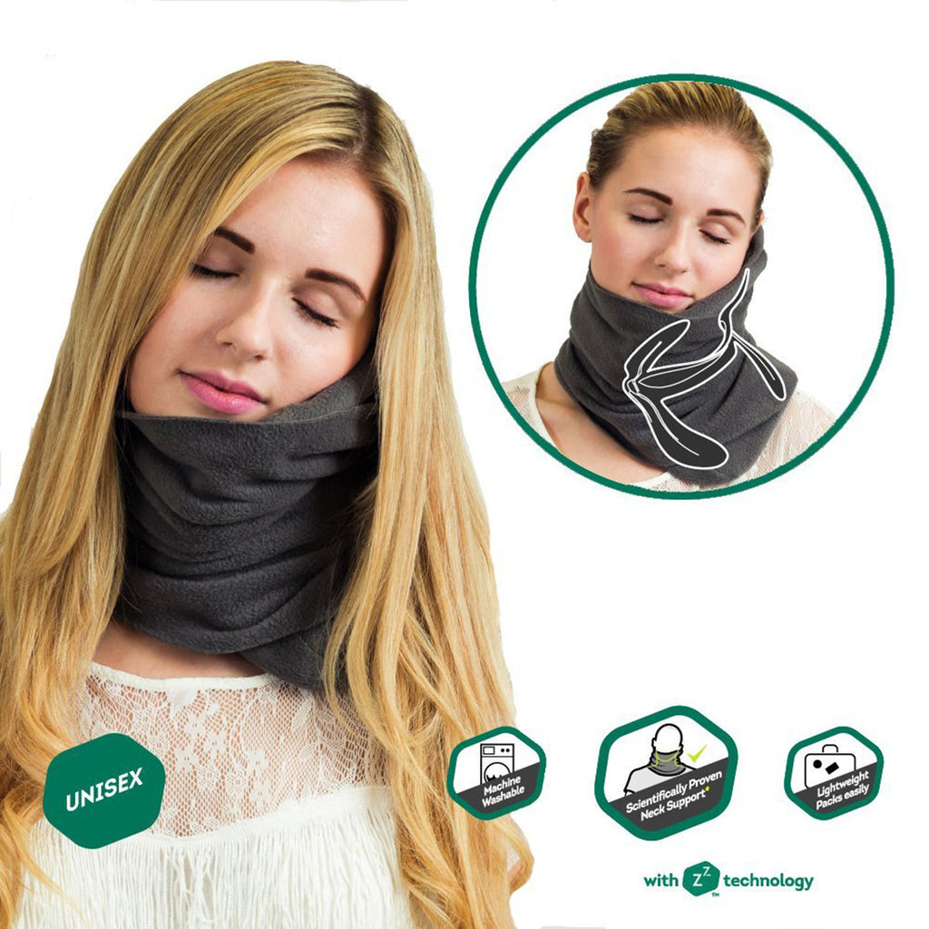 Travel household ultra-soft neck support pillow napping pillow -GRAY - Harvey & Haley  - 1