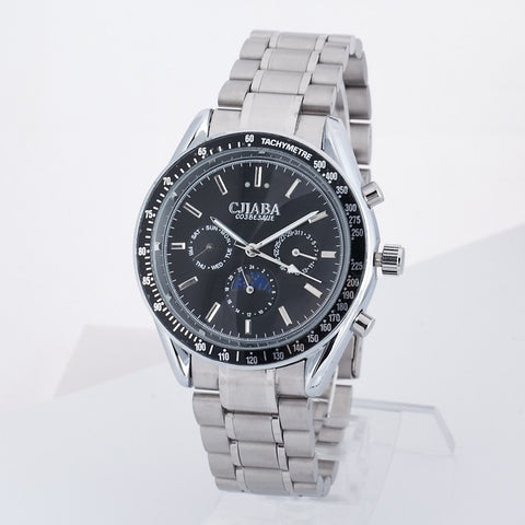 Automatic Self-wind Watches Men Full Steel Brand CJIABA Dress Men's watch Date display - Harvey & Haley  - 1