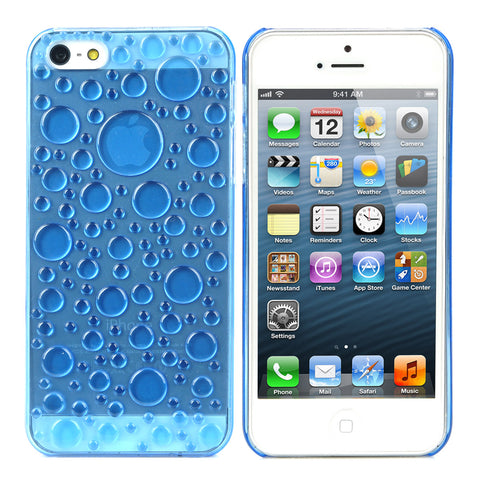3D Water Drop Style Protective Plastic Back Case for Iphone 5 - Translucent Sky Blue - Harvey & Haley  - 1