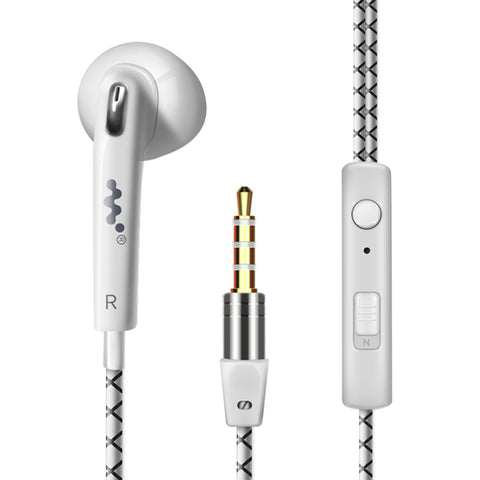 S7 universal phone headset in-ear drive-by-wire with microphone sport headset -WHITE - Harvey & Haley  - 1