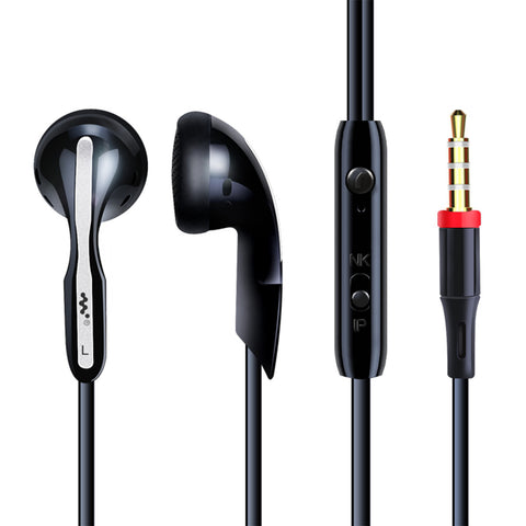 M9 universal phone headset in-ear drive-by-wire with microphone sport headset -BLACK - Harvey & Haley  - 1
