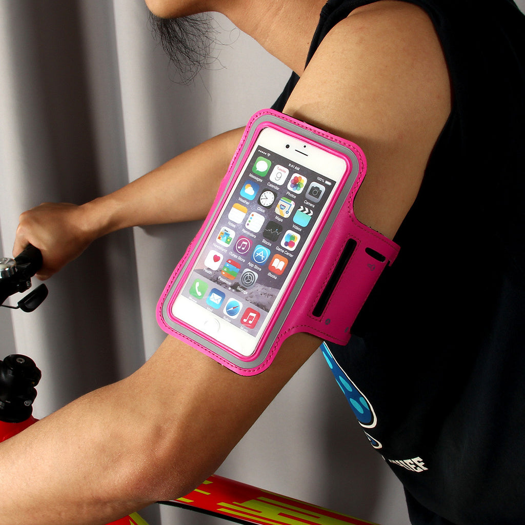 Practical PU Sports Armband for Iphone6 Plus - Deep Pink - Harvey & Haley  - 1