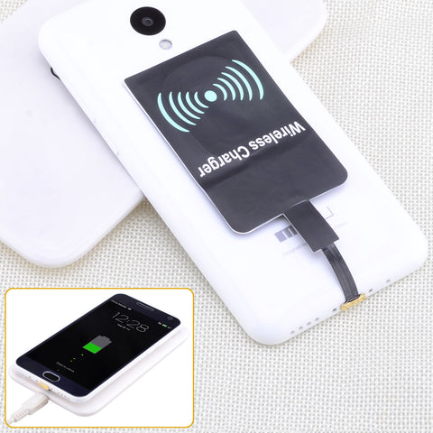 Reverse Universal Qi Wireless Charging Receiver - Black - Harvey & Haley  - 1