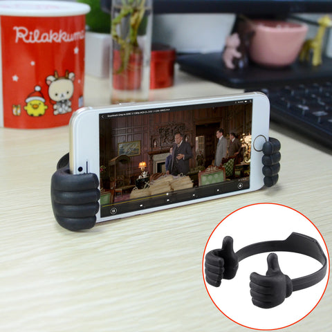 Creative Thumb Stand for Smart Phone Tablet IPad - Black - Harvey & Haley  - 1