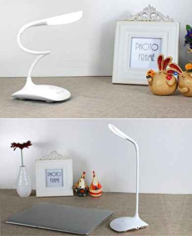 Salav Flexible Touch Sensor LED Lamp with 3 Levels of Brightness, White - Harvey & Haley  - 1