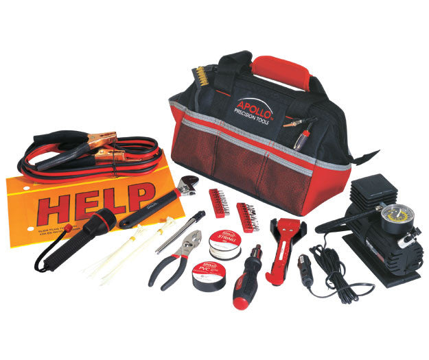 53 Piece Roadside/Emergency Tool Kit with Air Compressor - Harvey & Haley