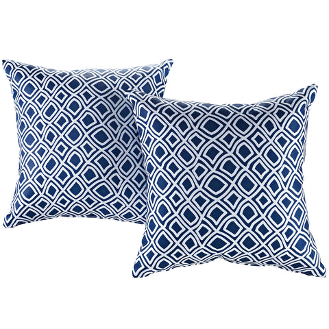 LexMod Modway Two Piece Outdoor Patio Pillow Set in Balance