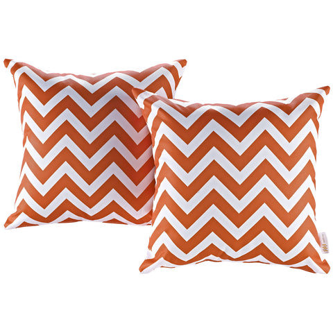 LexMod Modway Two Piece Outdoor Patio Pillow Set in Chevron - Harvey & Haley