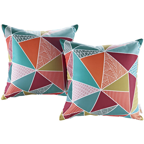 LexMod Modway Two Piece Outdoor Patio Pillow Set in Mosaic - Harvey & Haley
