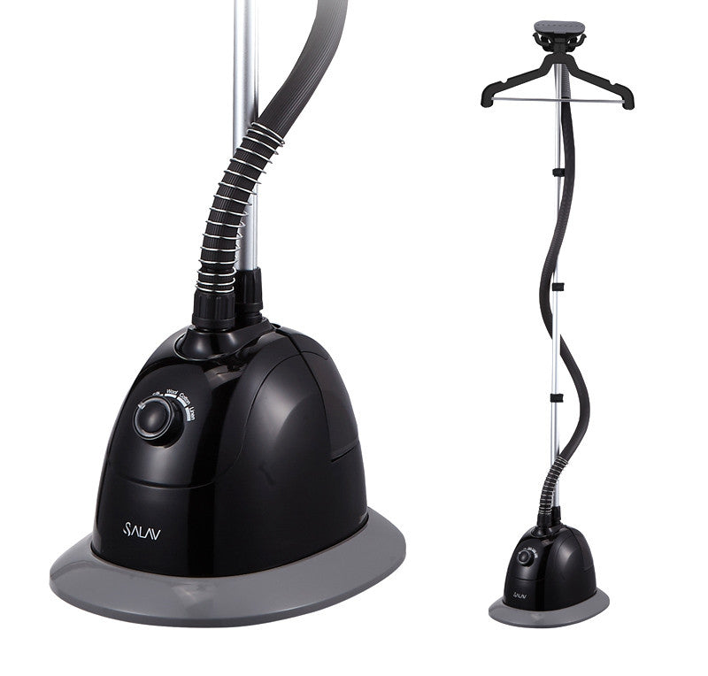 Salav Performance Garment Steamer with 360 Swivel Multi-hook Hanger, Black - Harvey & Haley  - 1
