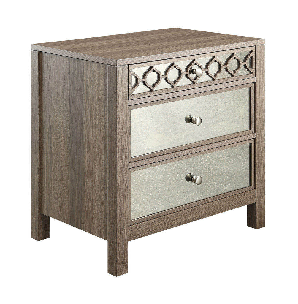 OSP Designs Helena 3 Drawer Cabinet (Greco Oak Finish) - Harvey & Haley