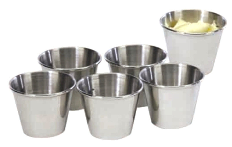 Cookpro Pro353 Steel Sauce Cup 2.5 oz. Set of 6 Mirror Polish - Harvey & Haley