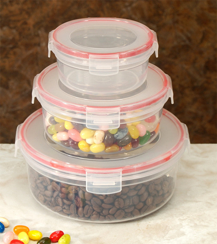 Cookpro 618 Food Containers 6Pc Lock Seal with Round Cover - Harvey & Haley