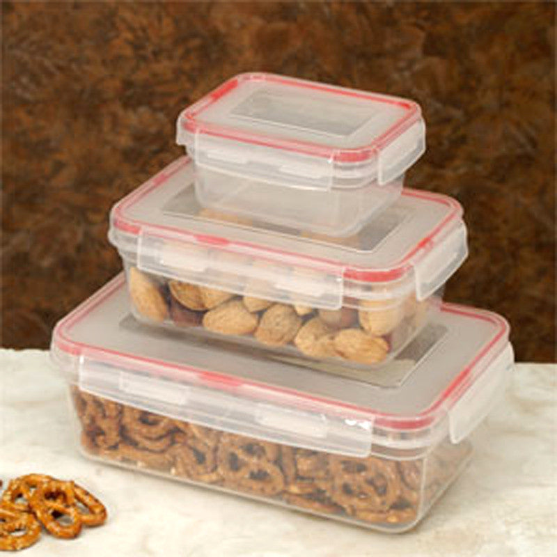 Cookpro 619 Food Container 6Pc Lock Seal with Square Cover - Harvey & Haley