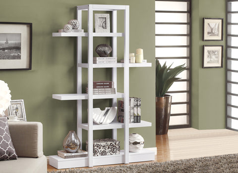"Bookcase - 71""H / White Open Concept Display Etagere - Harvey & Haley"