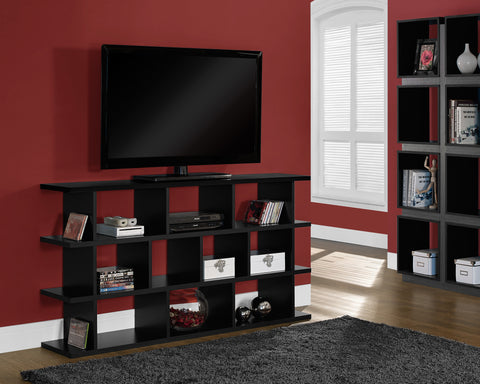 "Bookcase - 60"" / Black Horizontal Or Vertical Etagere - Harvey & Haley"
