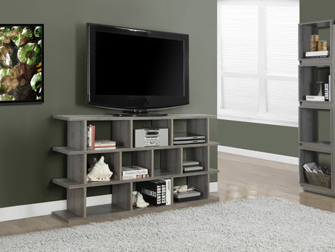"Bookcase - 60"" / Dark Taupe Horizontal / Vertical Etagere - Harvey & Haley"