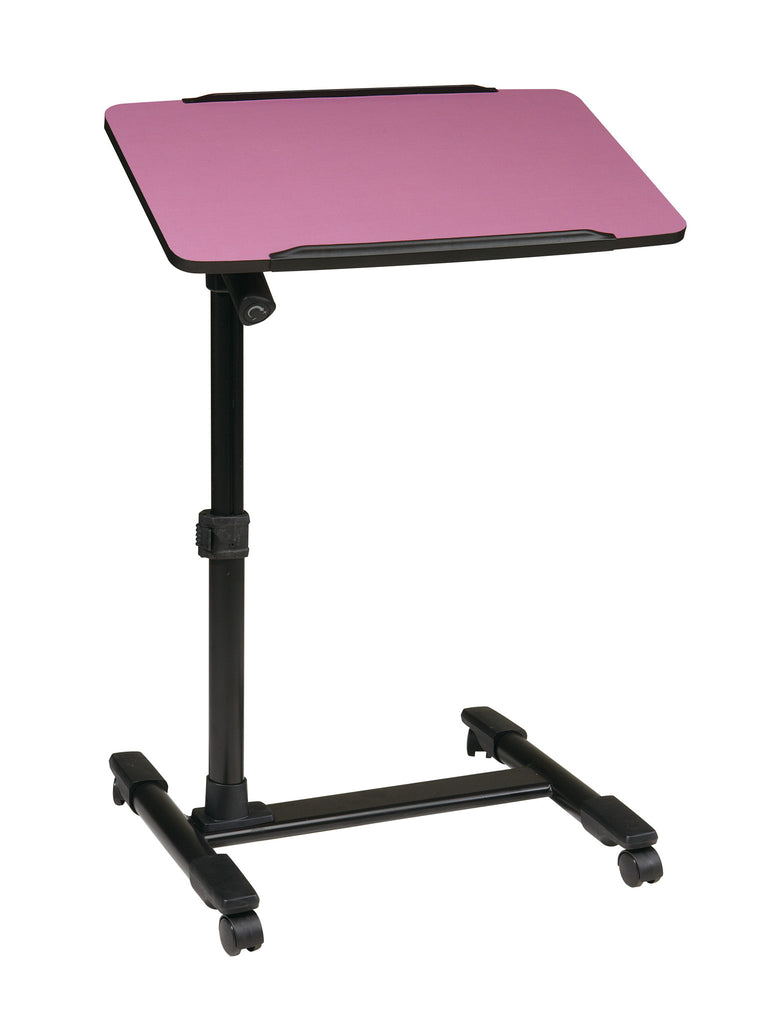 OSP Designs Mobile Laptop Cart with Adjustable Purple Top - Harvey & Haley