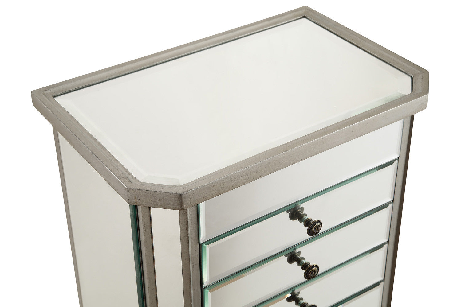 buy Elegant Lighting 7 Drawer Jewelry Armoire Silver Clear at