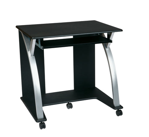 OSP Designs Computer Cart (Black with Silver) - Harvey & Haley