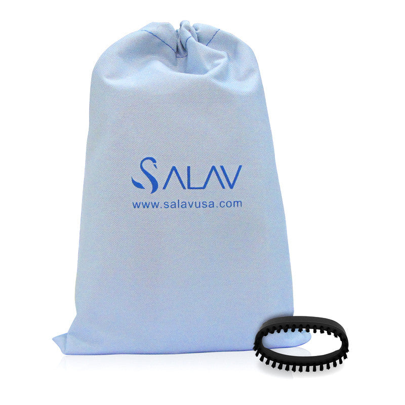 Salav Accessory Pack, 2 Piece set - Brush & Travel Bag for use with TS01 Travel Hand Held Garment Steamer, Black - Harvey & Haley  - 1