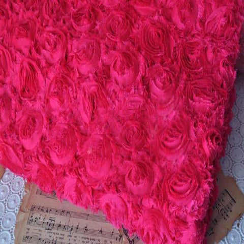 Three-Dimensional 3D Mesh Embroidered Fabric Various Colored Materials Arts-Color Pink - Harvey & Haley  - 1