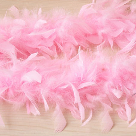 Pink Feather Material Strings for Projects and Crafts - Harvey & Haley  - 1