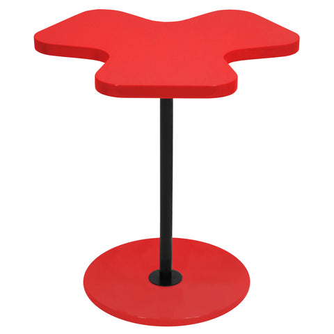 Lumisource Clover Side Table in red - Harvey & Haley