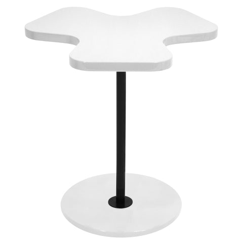 Lumisource Clover Side Table in white - Harvey & Haley