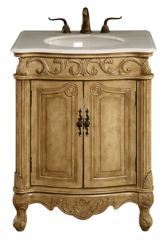 "Elegant Lighting - Vanity Cabinet 2 Door 27"" x 21"" x 35"", Antique Beige - Harvey & Haley  - 1"