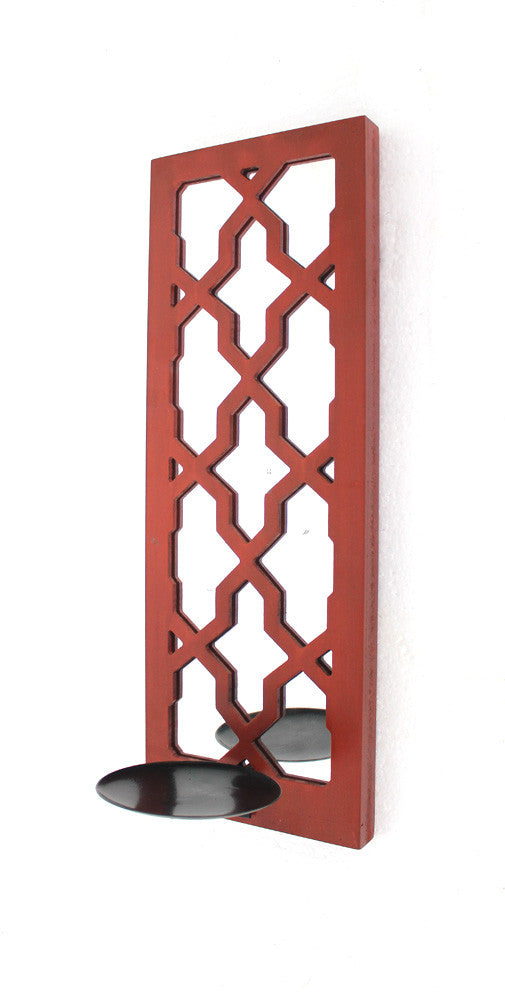 Teton Home Red Candle Holder - Harvey & Haley