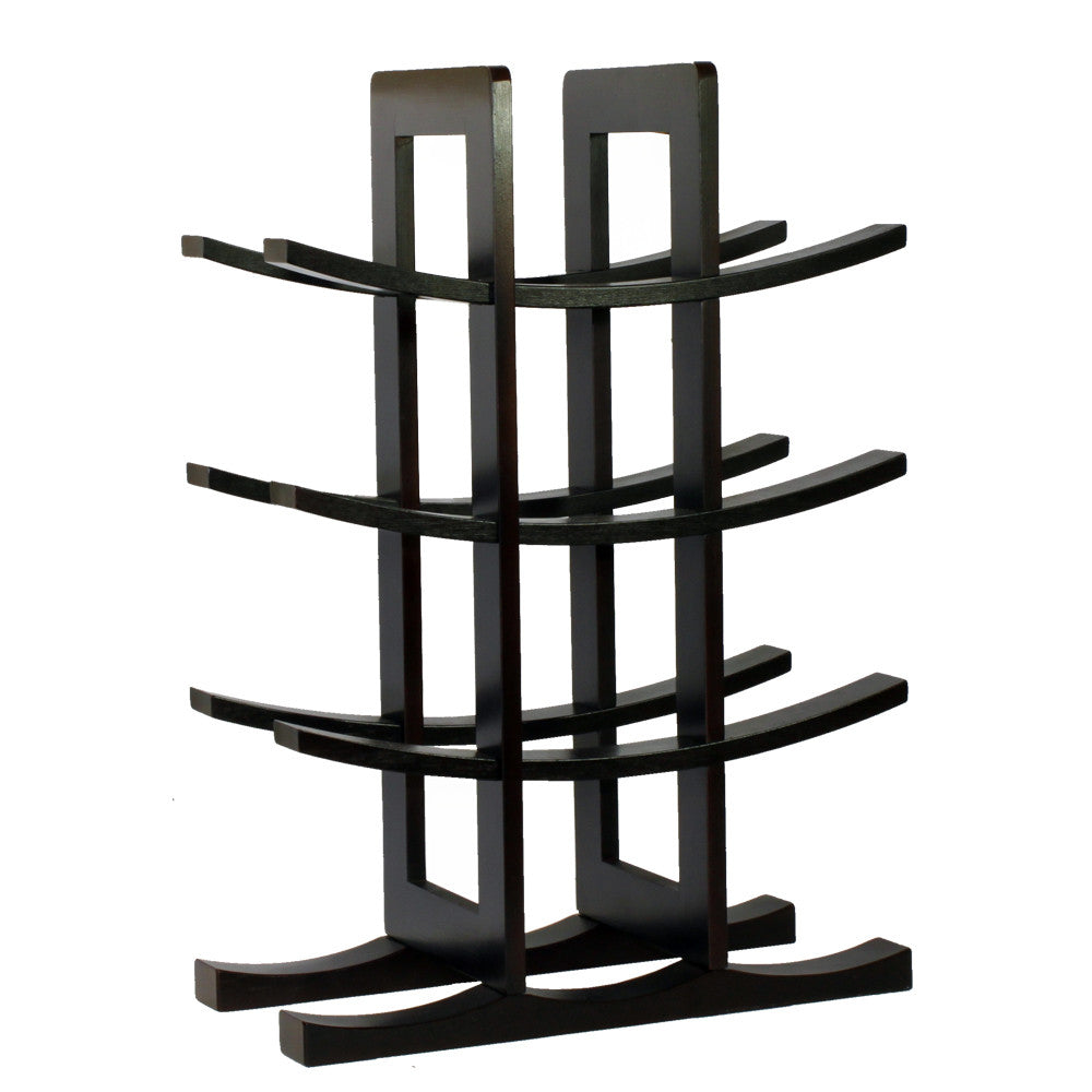 Oceanstar 12-Bottle Dark Espresso Bamboo Wine Rack WR1132 - Harvey & Haley  - 1