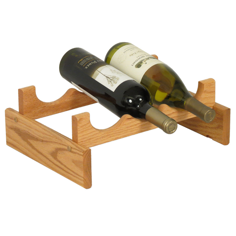 Wooden Mallet 3 Bottle Dakota™ Wine Rack  in Light Oak - Harvey & Haley  - 1