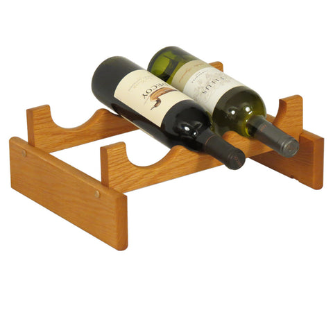 Wooden Mallet 3 Bottle Dakota™ Wine Rack  in Medium Oak - Harvey & Haley  - 1