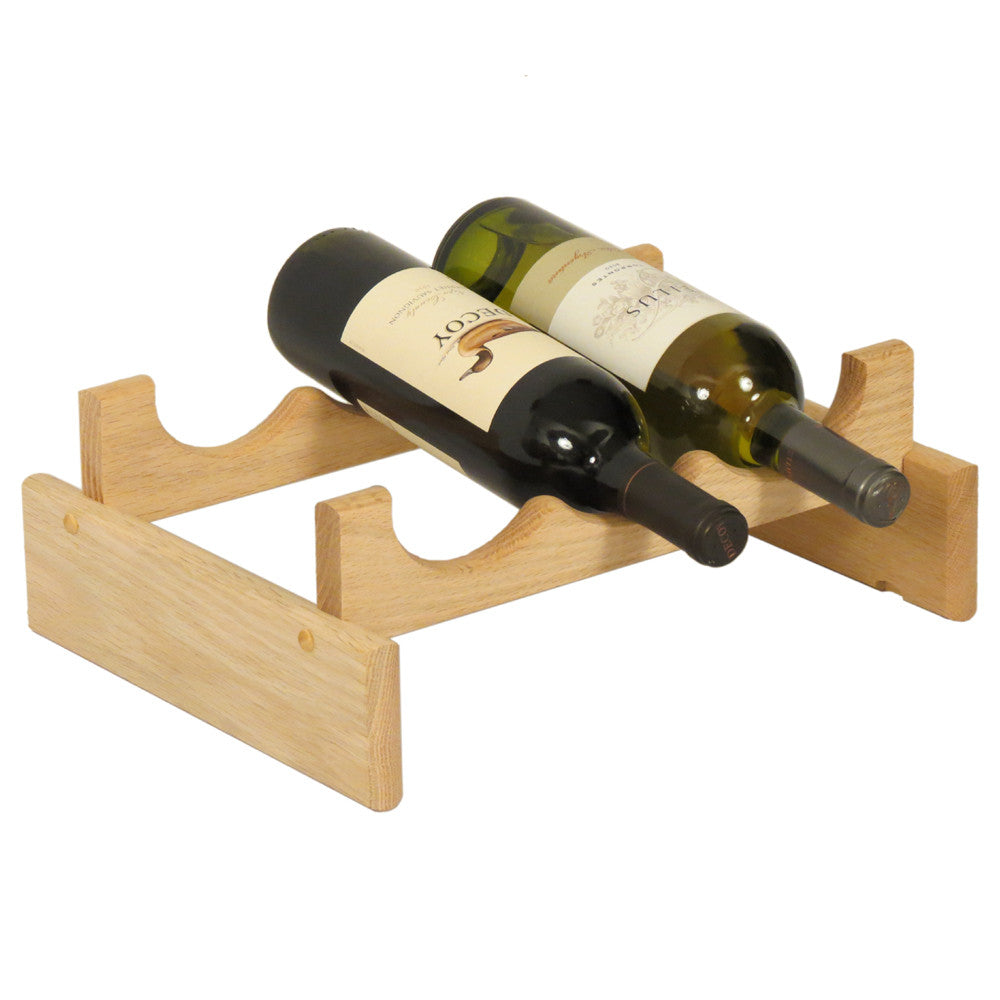 Wooden Mallet 3 Bottle Dakota™ Wine Rack  Unfinished - Harvey & Haley  - 1