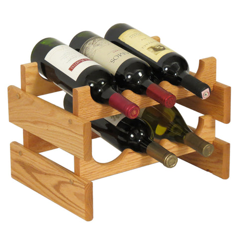 Wooden Mallet 6 Bottle Dakota™ Wine Rack  in Light Oak - Harvey & Haley  - 1