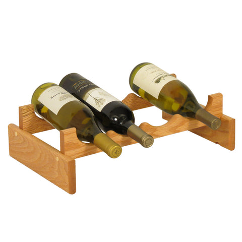 Wooden Mallet 4 Bottle Dakota™ Wine Rack  in Light Oak - Harvey & Haley  - 1