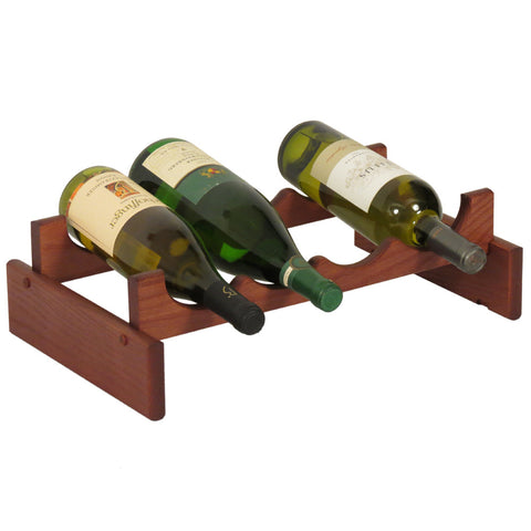 Wooden Mallet 4 Bottle Dakota™ Wine Rack  in Mahogany - Harvey & Haley  - 1