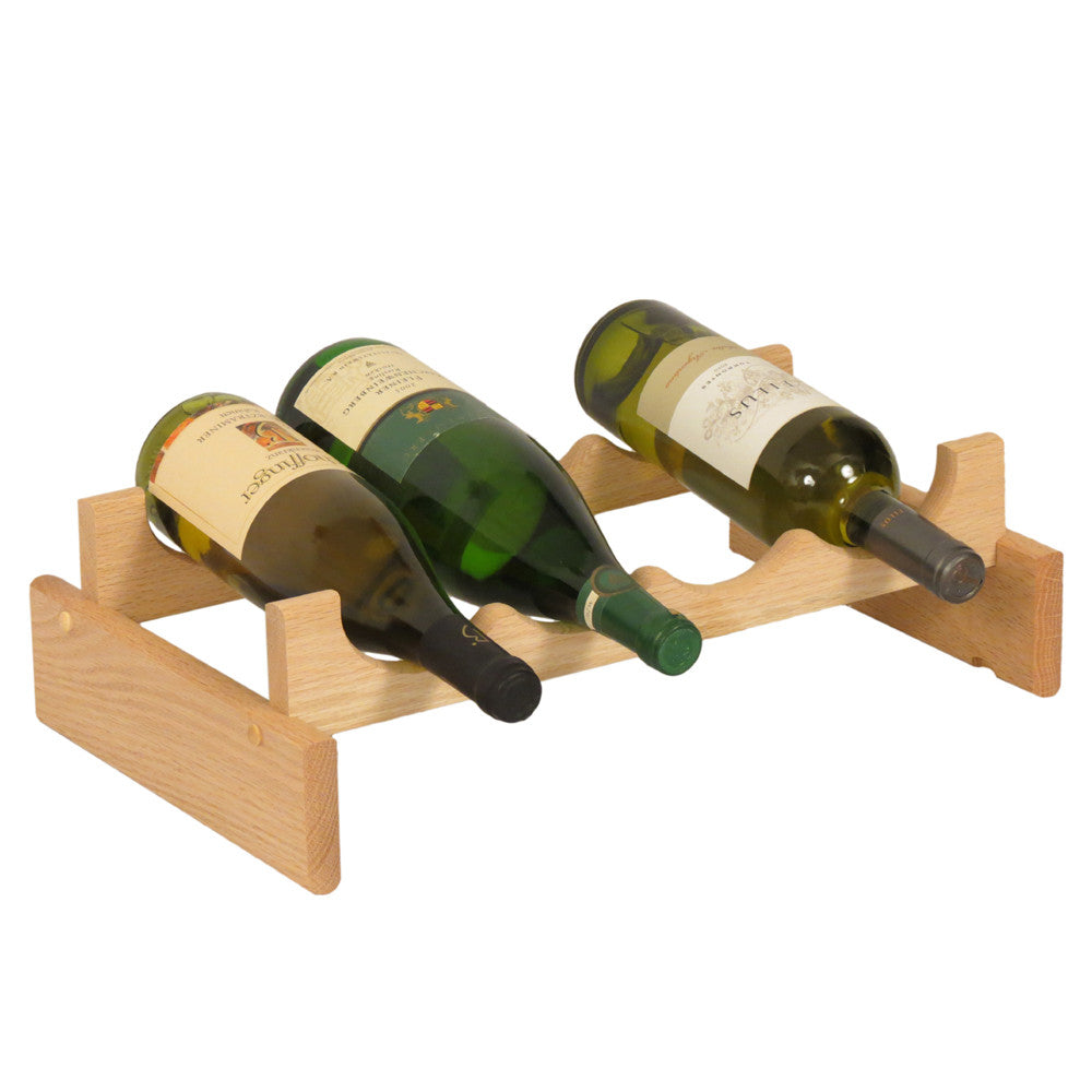 Wooden Mallet 4 Bottle Dakota™ Wine Rack  Unfinished - Harvey & Haley  - 1