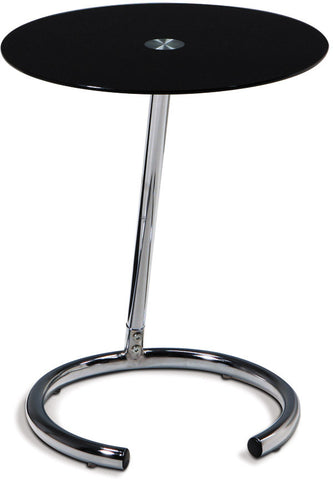 Avenue Six Yield Telephone Table Chrome Finish / Black Glass - Harvey & Haley