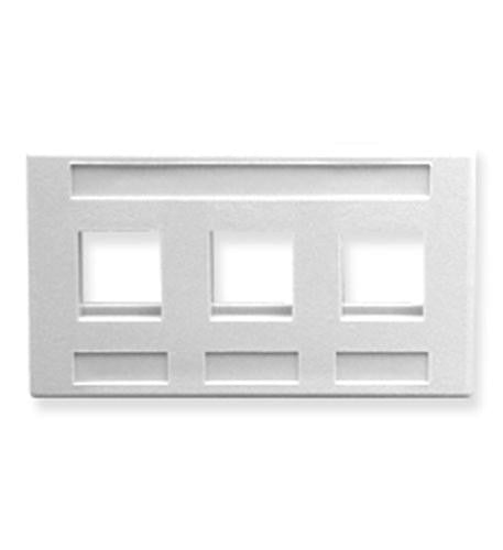 FACEPLATE- FURNITURE- 3-PORT- WHITE - Harvey & Haley
