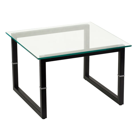 Glass End Table - Harvey & Haley