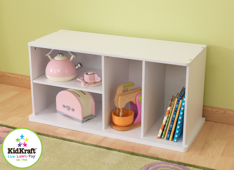 Kidkraft White Storage Unit with Shelves - Harvey & Haley