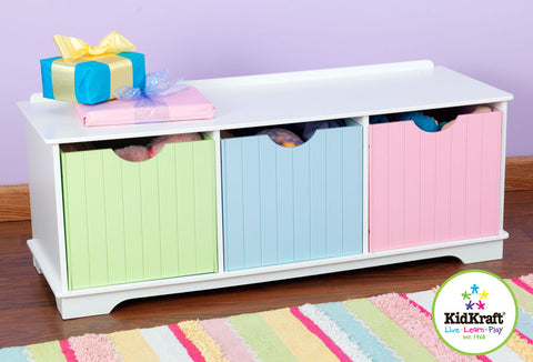 Kidkraft Nantucket Pastel Storage Bench - Harvey & Haley