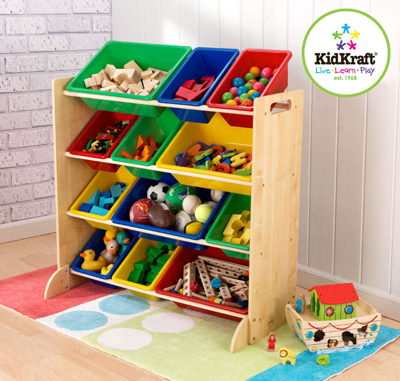 Kidkraft Twelve Bin Unit With Primary Bins - Harvey & Haley
