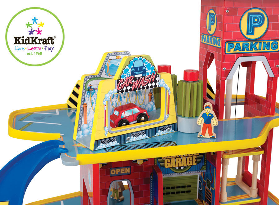 Kidkraft Garage Play Set - Harvey & Haley