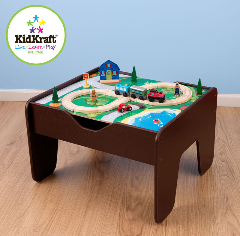 Kidkraft Espresso Two In One Activity Table Lego Compatible - Harvey & Haley