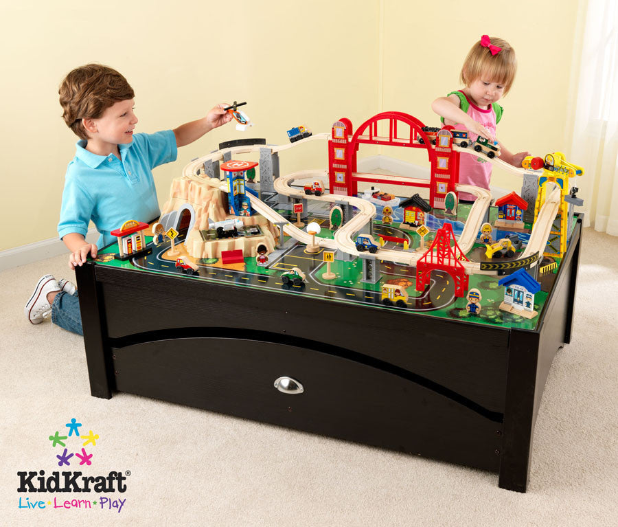 Kidkraft Metropolis Train Table And Set - Harvey & Haley