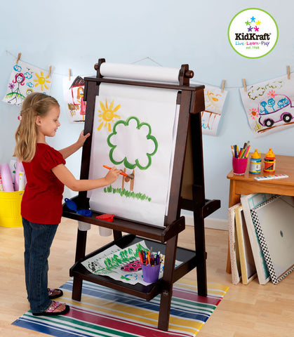 Kidkraft Deluxe Wood Easel In Espresso - Harvey & Haley