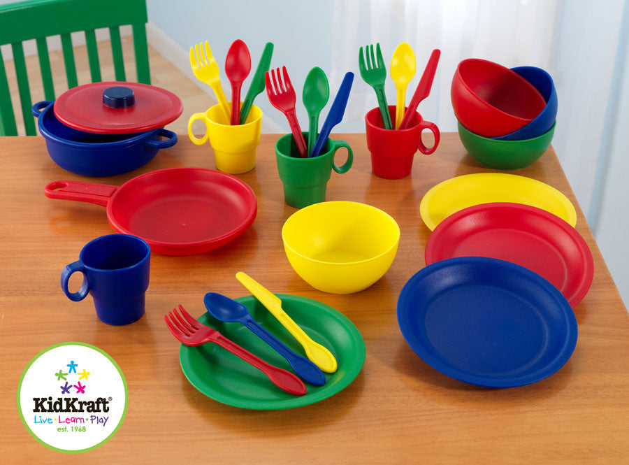 Kidkraft 27 Pc Cookware Play Set - Primary - Harvey & Haley